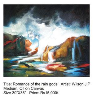 Romance of the rain gods painting by Wilson J.P