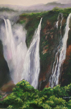 The Jog Falls painting by Sapna Noronha