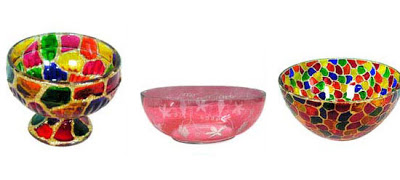 Glass bowls from Tiya