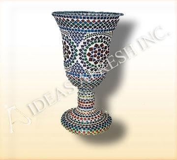 Mosaic glass vase from Ideasafresh