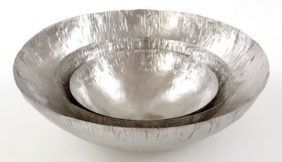Hand-raised stainless steel bowls - Mann-made design