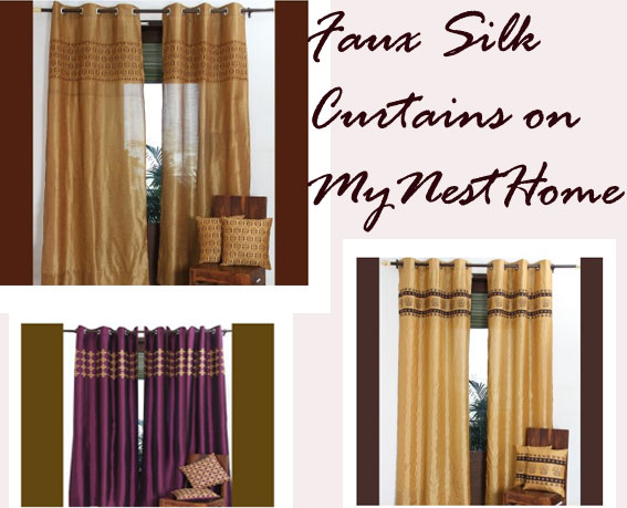 Faux Silk Moroccan Curtains and Cushions - MyNestHome.com