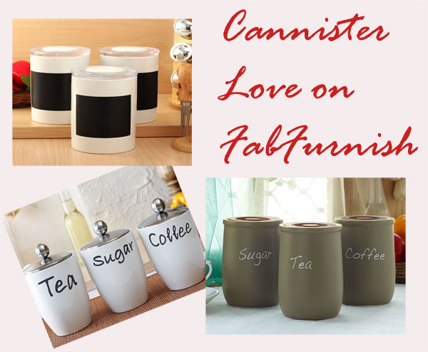 Awesome range of Cannisters with chalkboard labels on FabFurnish.com