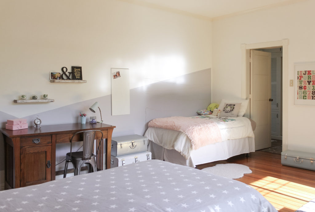 Home Tour with Kaho of Chuzai Living - the beautiful white kid bedroom filled with study desk, trunk and many more
